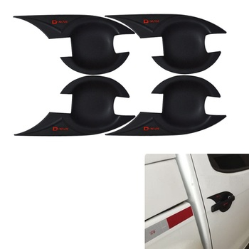DECORATIVE PARTS DOOR HANDLES BOWL COVER TRIM COVERS FIT FOR ISUZU D-MAX DMAX EXTERIOR COVER ACCESSORIES 2012-2017 image
