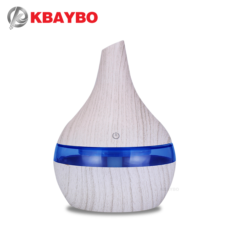 KBAYBO 300ml Essential Oil Diffuser USB Air Humidifier With Essential Lavender Lemongrass Rosemary Oils Aroma Strong Mist Maker