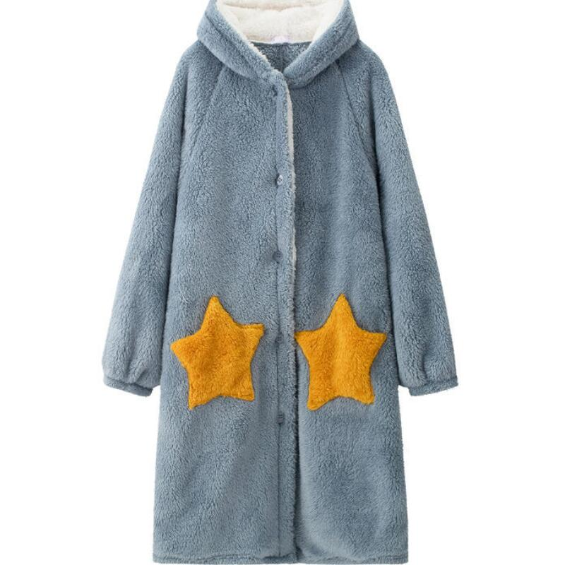 Winter-Blanket-with-Sleeve-Hooded-Hoodie-Women-Long-Sweatshirt-Female-Indoor-Pajama-Cardigan-Fleece-Jacket-Fannel.
