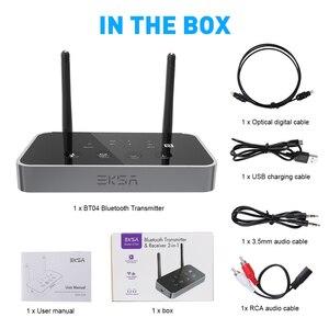 Image 5 - EKSA Bluetooth 5,0 Audio Sender Empfänger Niedrigen Latenz 3 in 1 Optische/3,5mm AUX/SPDIF Bluetooth Adapter für TV Kopfhörer