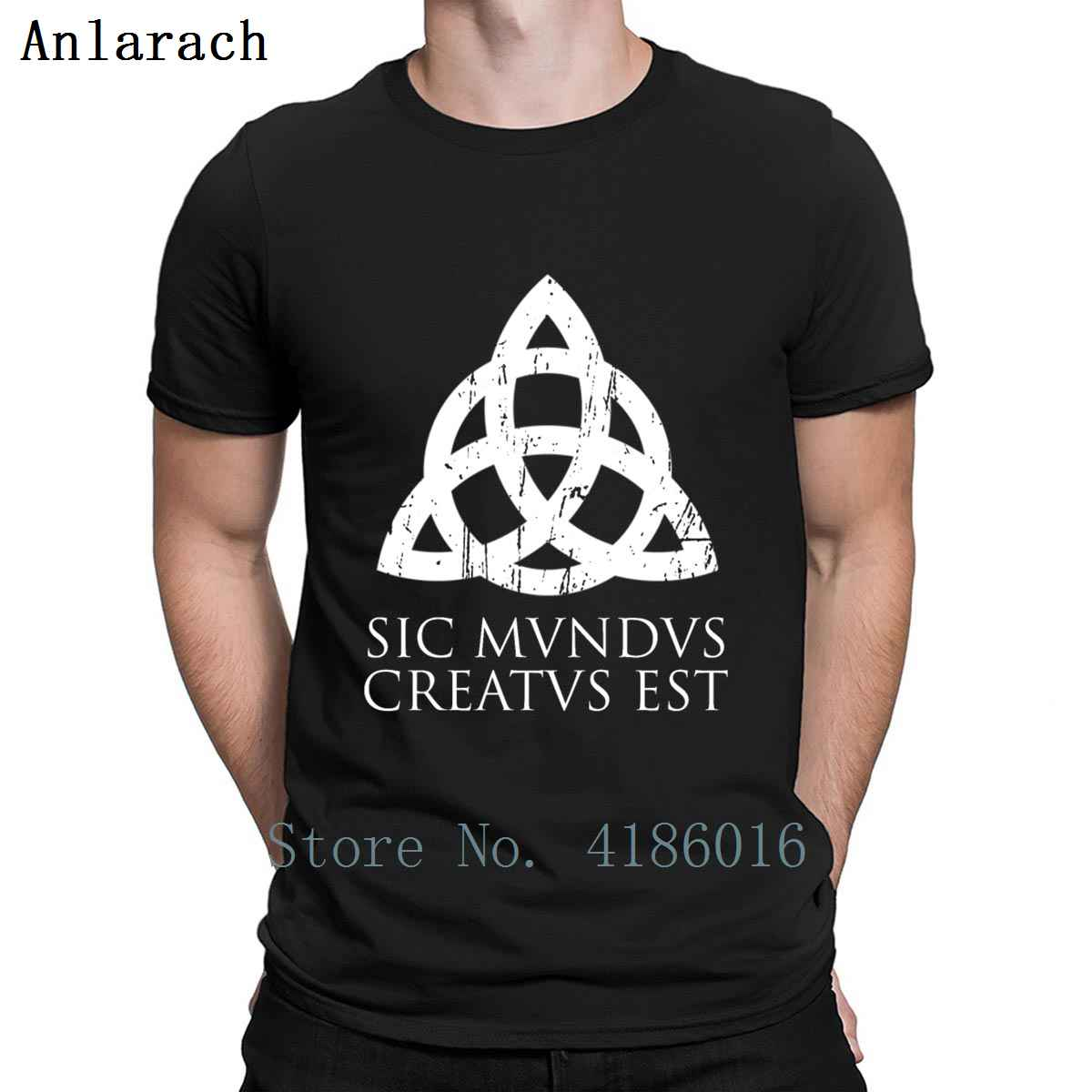 Sic Mundus Est Creatus Dark T Shirt New Fashion Spring Letters Outfit Character Crew Neck Fitness Cotton Shirt