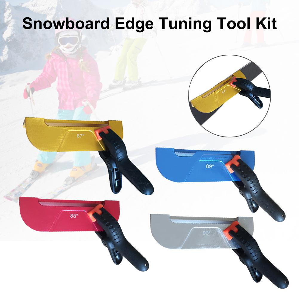 New Ski Snowboard Edge Tuning Tool Kit 4 Angles Portable Edge Care Kit Drop Shipping