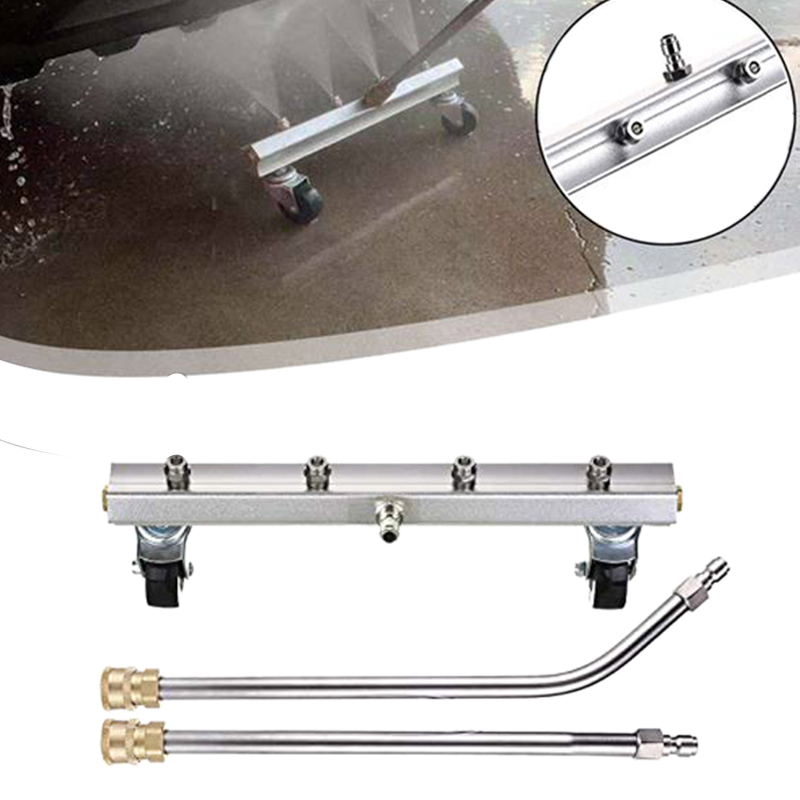 Pressure Washer Under Car Cleaner Car Wash With 45 Degree Angled Wand 4 Spray Nozzle Cleaner For 1/4Inch Connector