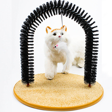 Good Arch Pet Cat Self Grooming With Round Fleece Base Toy Brush Toys For Pets Scratching Devices Groomer Supplies