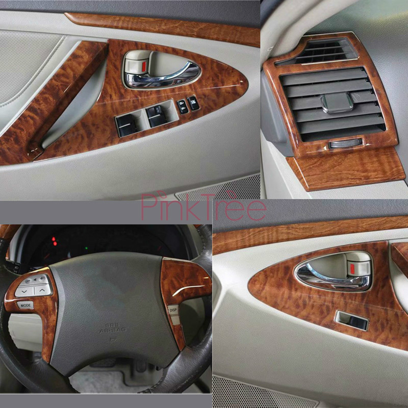 Interior Wooden Decoration Moulding Cover  For Toyota Camry 2006 2007 2008 2009 2010 2011 Styling Accessories