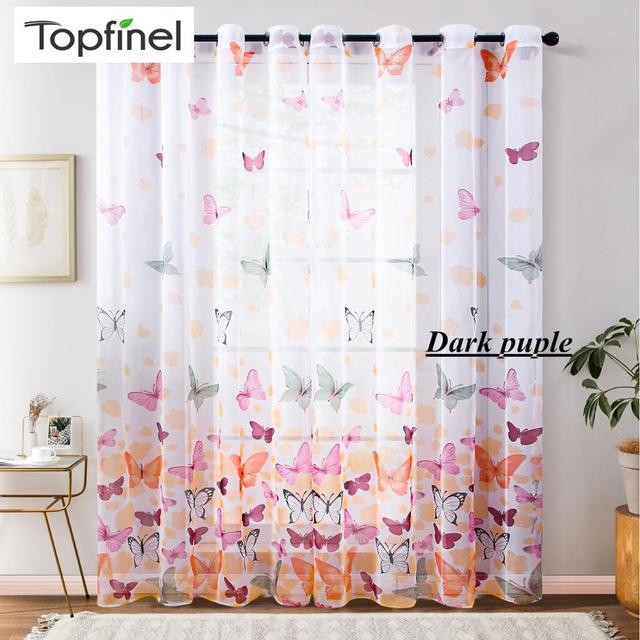 Butterfly Sheer Curtains 3