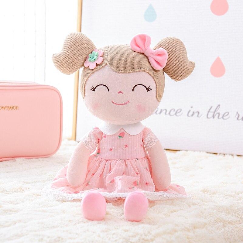 Gloveleya Plush Dolls Spring Girl Baby Doll Gifts Strawberry Cloth Dolls Kids Rag Doll Plush Toys Kawaii