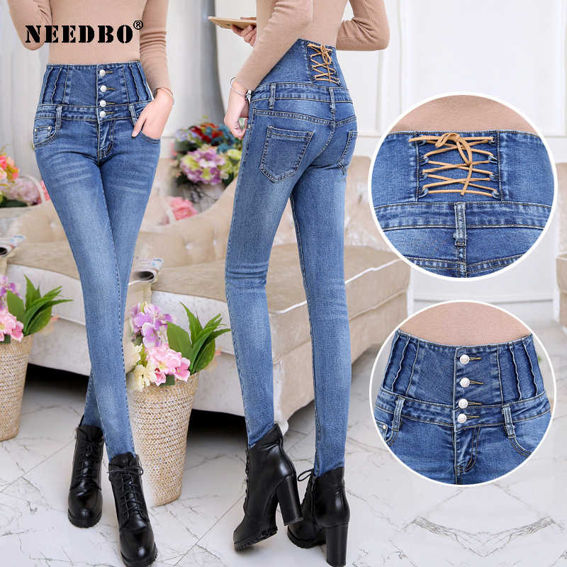 Skinny Jeans Woman Plus Size High Waist Boyfriend Casual Women Trousers Jeggings Casual Women Jeans Push Up Warm Bodycon Jeans
