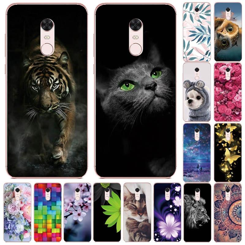 For Xiaomi Redmi 5 5Plus Case Silicone Back Cover For Xiomi Redmi 5 Plus Case Pattern For Xiaomi Redmi 5 Plus Redmi5 Phone Cases
