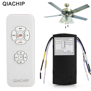 QIACHIP Universal Ceiling Fan Lamp Remote Control Kit AC 110-240V Timing Control Switch Adjusted Wind Speed Transmitter Receiver(China)