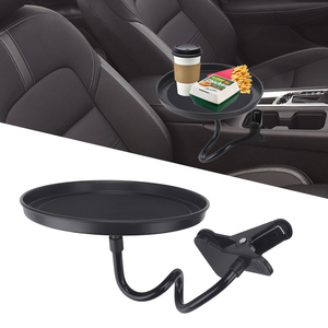 Multifunctional Car Food Tray Adjustable Dining Table Drink Coffee Bottle Organizer Swivel Tray Clamp Bracket Car Cup Holder