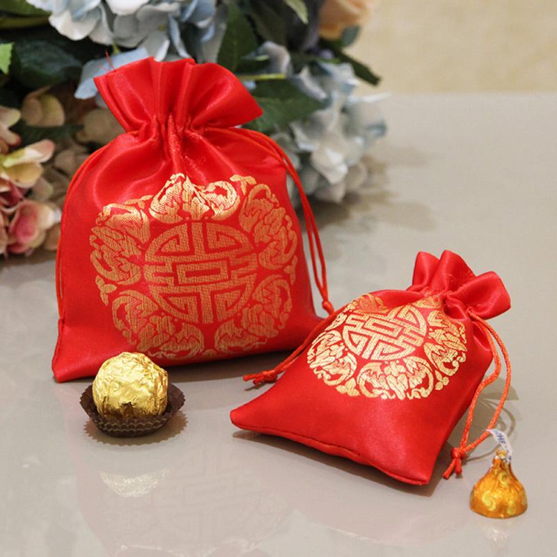 New Year Blessing Bag Red Peace Blessing BagWedding Candy Bag Creative Brocade Bag Gift Bag Wedding Supplies Wedding Candy Box
