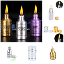 Metal Alcohol Lamp Portable Liquid Stoves For Outdoor Survival Camping Hiking Travel Without Alcohol(China)
