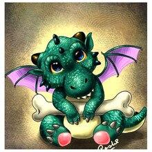 Volledige Vierkante/Ronde Boor 5D DIY Diamant Schilderij Cartoon dragon Borduren Kruissteek Home Decor Gift