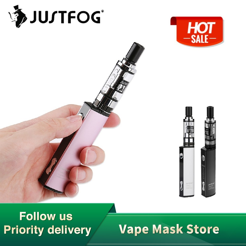 JUSTFOG Q16 Starter Kit With 900mAh Built-in Battery & 1.9ml Q16 Clearomizer & 8 Level Variable Voltage E-cig Vape Kit Vs Vinci