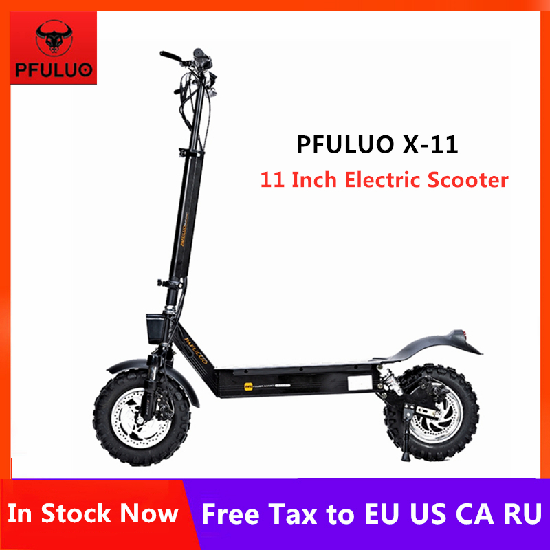 2019 Original PFULUO X-11 Smart Electric Scooter 1000W Motor 11 inch 2 wheel hoverboard skateboard 50km/h Max Speed Off-road