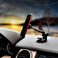Universal Magnetic Car Mount Mobile Phone Stand Holder For iPhone 7\/6\/Samsung Solid Series Telescopic 360 Rotation Tablet Mount