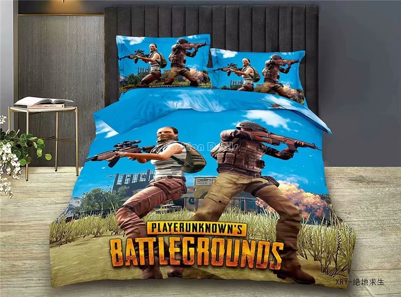 PUBG Playerunknown's Battlegrounds Bedding Set Popular Game Printed Quilt Cover For Adult Kids Single Twin Full Sizes Bedclothes