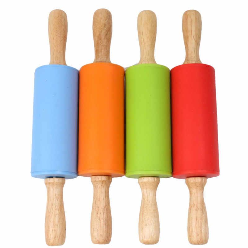 Kids Plasticine Rolling Pin Creative Clay Modelling Tool Wood Plasticine Roller