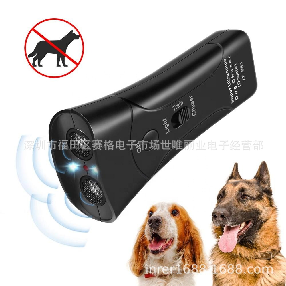 Pet Supplies Double Ultrasonic Speaker Distance Infrared Electronic Dog Drives Zf-853