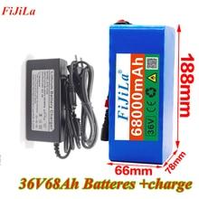 36V battery 10S4P 68Ah battery pack 500W high power 42V60K mAh Ebike+42v charger
