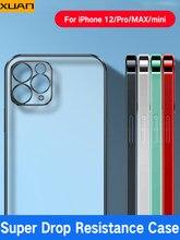 Luxo transparente quadrado quadro chapeamento caso para iphone 12 11 pro max mini x xs xr 7 8 plus se 2020 silicone macio fosco claro