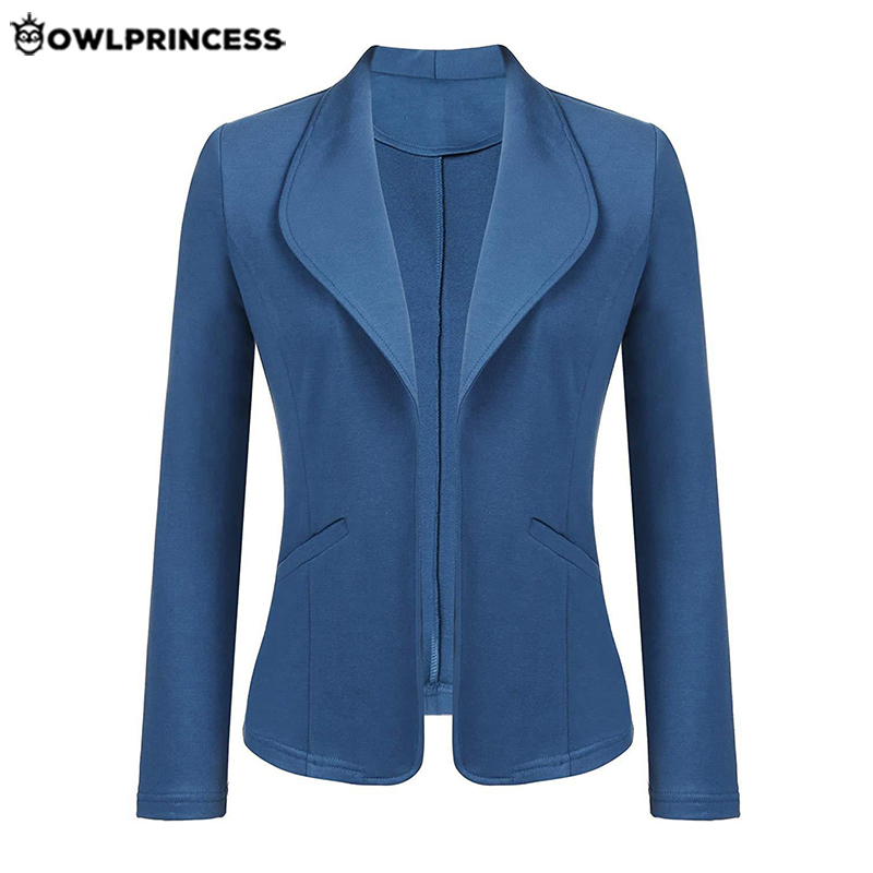 Daily Suit  OWLPRINCESS New Fashion Plus Size  Business Blazer Mujer Autumn Office Ladies Blazer Slim  Suit Coat Femme Jacket
