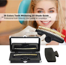 20 Colors Teeth Whitening 3D Shade Guide Color Comparator With Mirror Dentistry Cold Light Teeth White Bleaching Dental Plate(China)