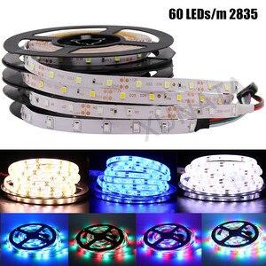 Image 5 - 2835 SMD tira LED 240 LEDs/m 5 M 300/600/1200 Leds DC12V alta brillante Flexible cinta de cinta de cuerda LED blanco cálido/blanco frío