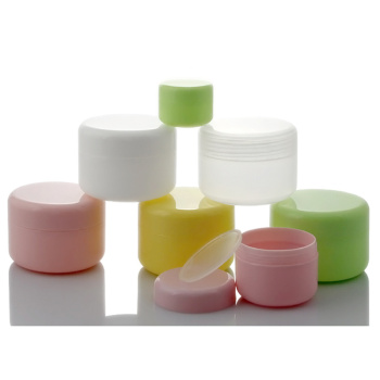 100Pcs  Plastic Empty Makeup Jar Pot Refillable Sample bottles Travel Face Cream Lotion Cosmetic Container 10g/20g