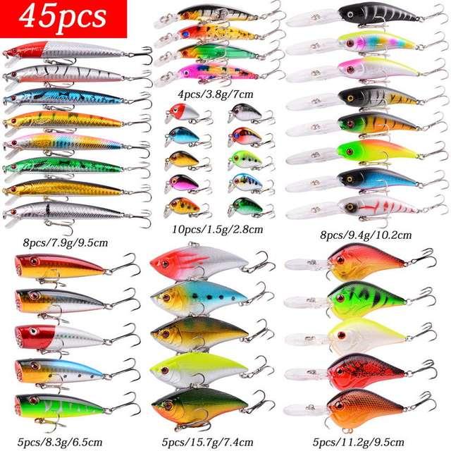 Mixed Fishing Lure Kits Wobbler Crankbait Swimbait Minnow Hard Baits Spinners Carp Bait Set