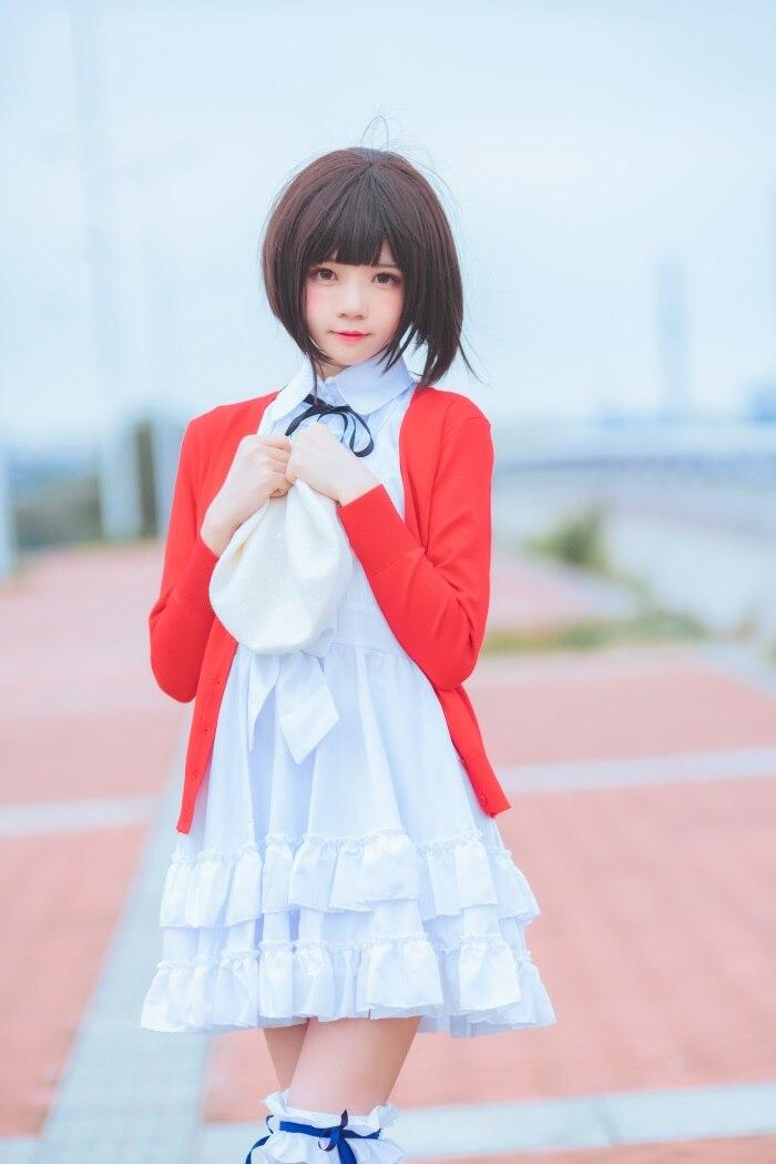 看妹子萝莉风COS 桜桃喵 – 加藤惠系列之常服 [33P/643MB]插图