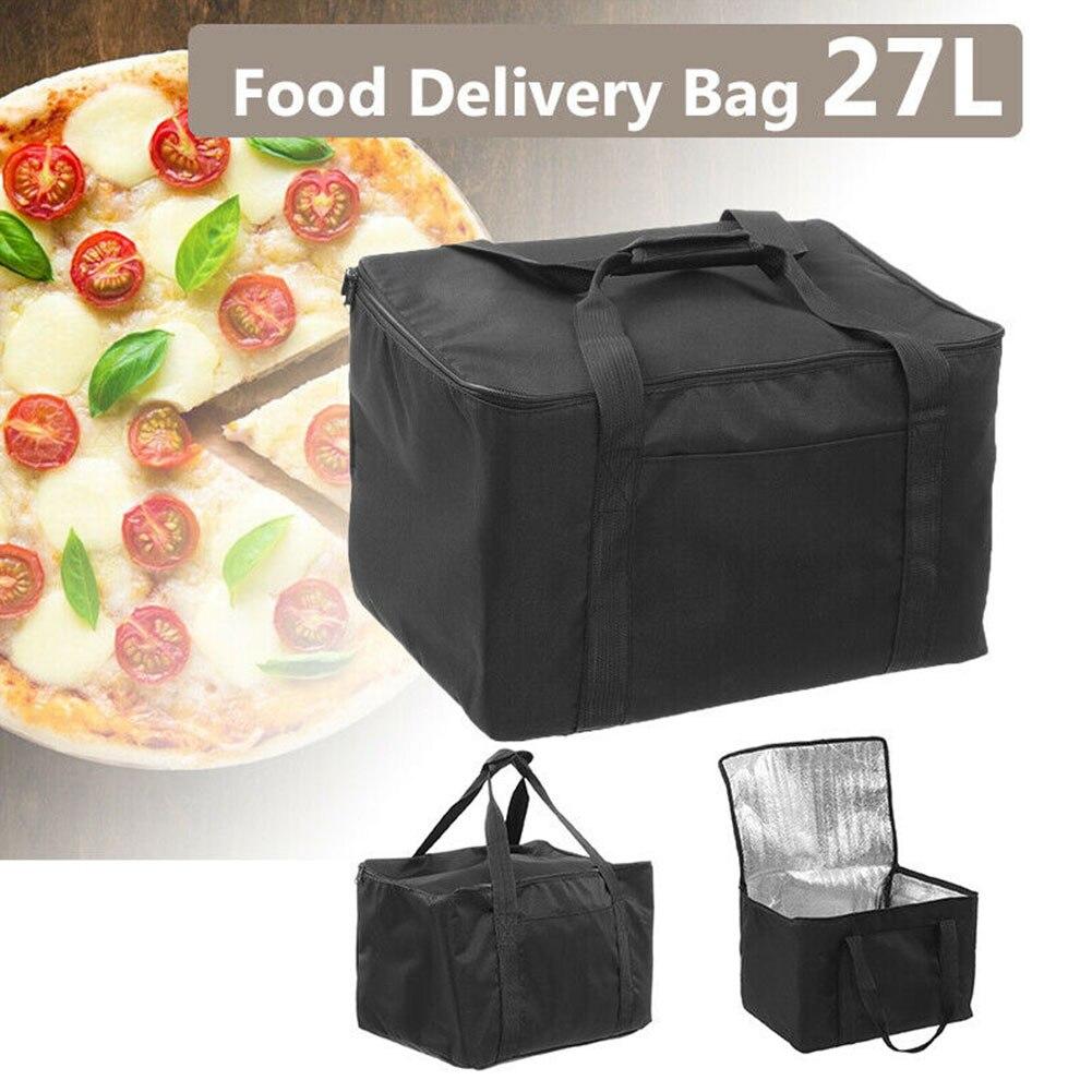 Sac de livraison de Pizza à emporter, conteneur de pique-nique thermique, stockage des aliments, tartes dextérieur, étanche et Portable