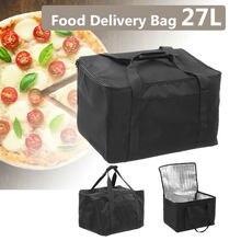Sac de livraison de Pizza à emporter, conteneur de pique-nique thermique, stockage des aliments, tartes d'extérieur, étanche et Portable