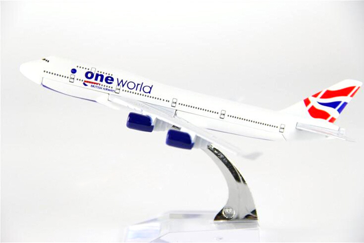 Plane Model Boeing 747 British Airways Aircraft  B747 16cm Alloy Simulation Airplane Model For Kids Toys Christmas Gift