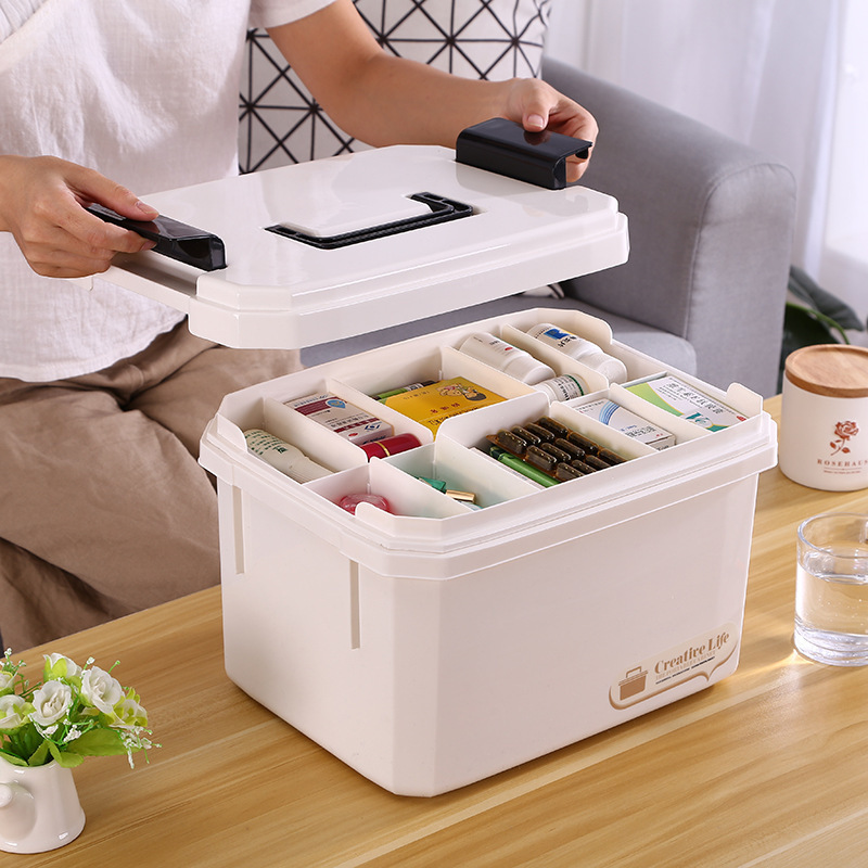 Medical Box Multifunctonal Storage Box First Aid Kit Medicine Organizer With Handle Portable Medicine Chest Hot Selling