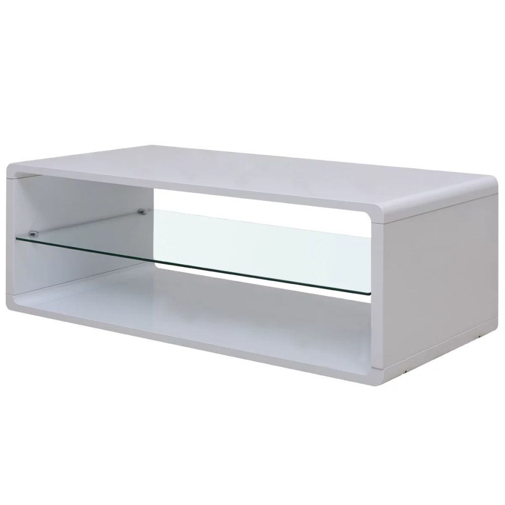 VidaXL High Gloss Coffee Table White
