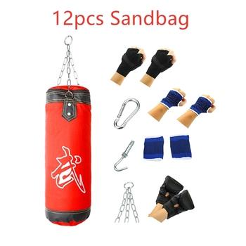 12 sztuk Sanda boks szkolenia worki z piaskiem Punch cel szkolenia Fitness uderzające spadek pusta torba z piaskiem dla kobiet mężczyzn tanie i dobre opinie Forfar Kategoria z worków z piaskiem Other Boxing Sand Bag Sandbag Category