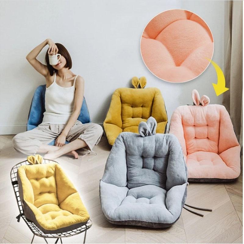 Almofada assento confortável semi-fechada, para cadeira de escritório alívio da dor aparelho de ciática com costas e almofada