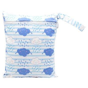 20*25cm Mini Diaper Wet Bag Single Pocket Zipper Baby Bags For Mom Maternity Travel Stroller Bag PUL Nappy Diaper Bag Wetbag - AS-MB-17