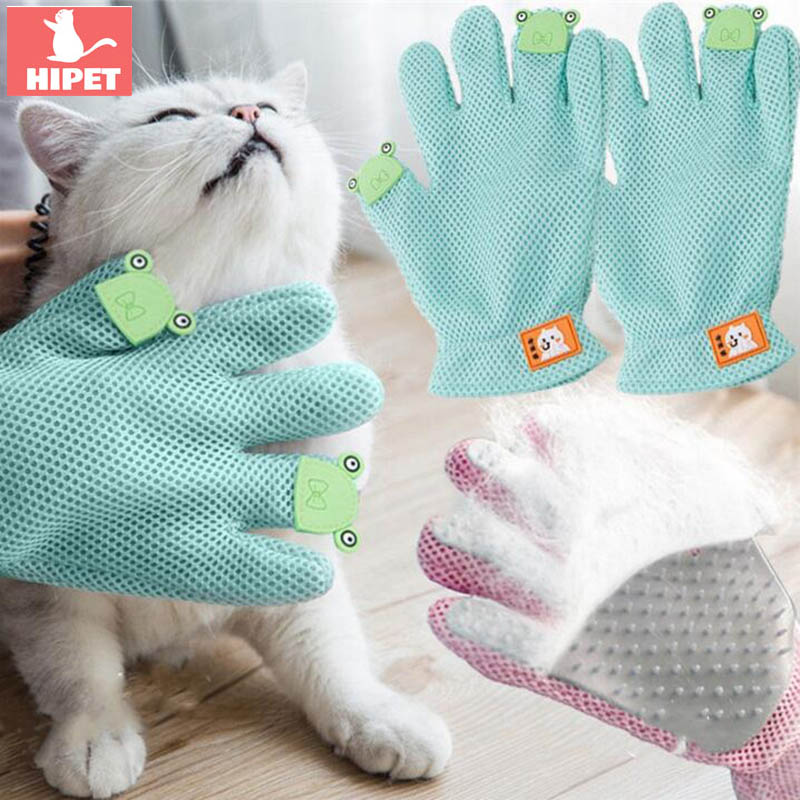 HIPET Silicone Cat Glove Brush Hair Removal Deshedding Animal Bathing Cleaning Massage Pet Grooming Tool Accessories
