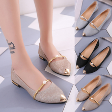 Shoes Women Pearl Korean-Version Chic Spring 100-Lap Shallow-Mouthed New