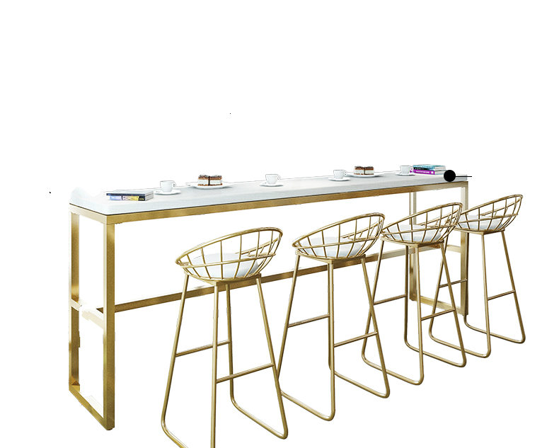 Nordic Leisure Ins High Stool Home Modern Minimalist Light Luxury Backrest Chair Bar Chair Front Desk Bar Chair