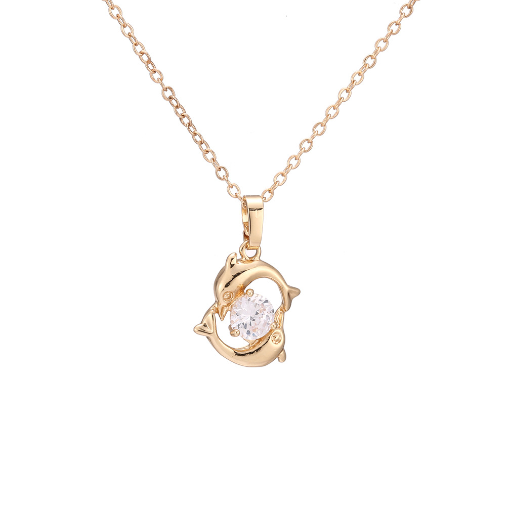 Simaer Women Y-Necklace Zinc Alloy Inlaid Natural Crystal with Gift Package