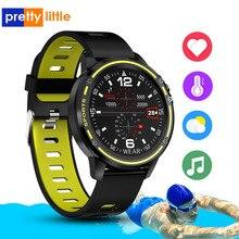 "L8 חכם שעון גברים IP68 עמיד למים Reloj Hombre רב ספורט מצב SmartWatch עם אק""ג PPG לחץ דם קצב לב כושר שעון"