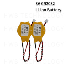 2 шт./партия оригинальная KTS CR2032 CR2032W 3V литиевая батарея компьютерная батарейка для материнской платы Сделано в Японии