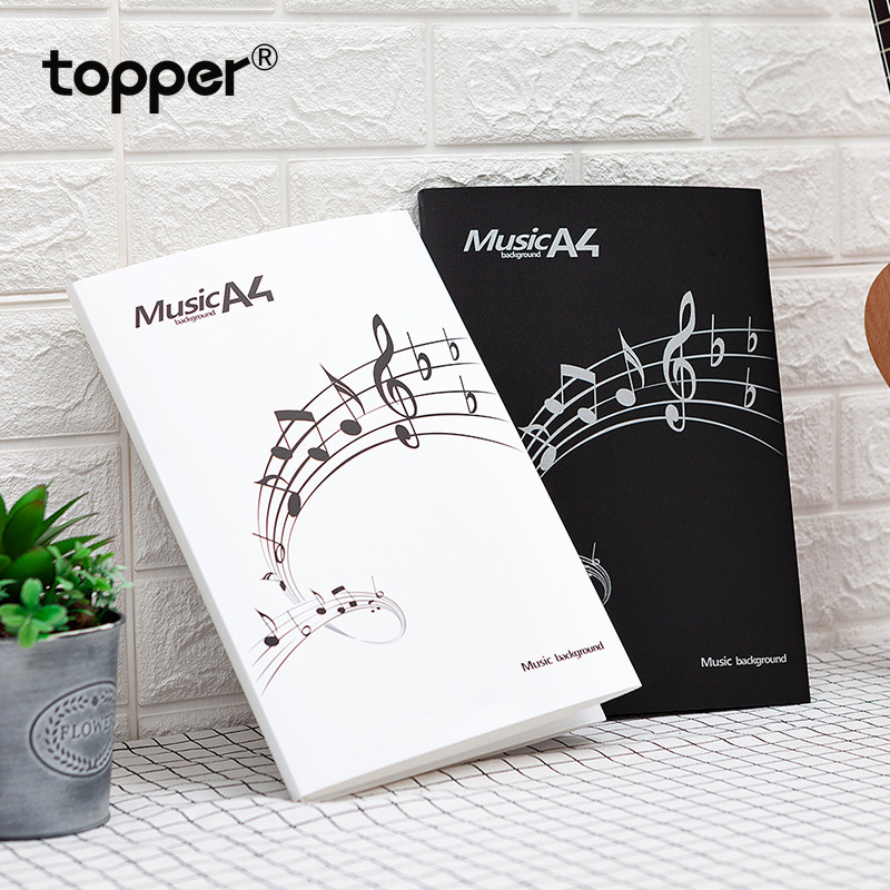 FIle Fplders Six-page Music Sheet Folder Folder Stationery Sheet Music Folder Piano Sheet Music Display Book