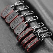 עור מפתח שרשרת טבעת כיסוי מקרה מחזיק עבור KIA Ceed K3 K4 K5 Sportage R QL KX5 סורנטו KX3 KS3 ריו Cerato אופטימה Frote נשמה