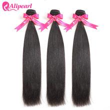 Mèches péruviennes 100% naturelles remy-AliPearl Hair, tissages cheveux humains, lisses, offres en lots de 3, 10 12 14 16 18 20 22 24 26 28 30 pouces