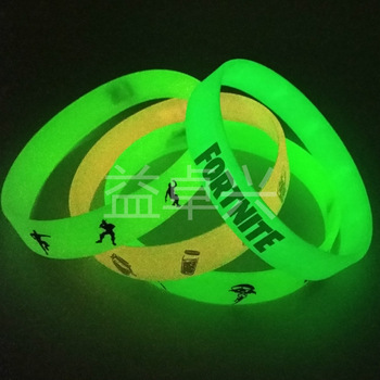 Luminous Silicone Bracelet Fortnite Rubber Trend Adult Toys Figure Model Pattern Kid Birthday Toy Gift 1